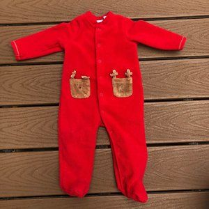 Warm fleece First Impressions holiday pajamas